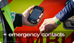 Sports ID with your emergency contacts