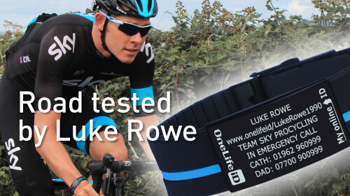 Luke Rowe British Cycling ID Band
