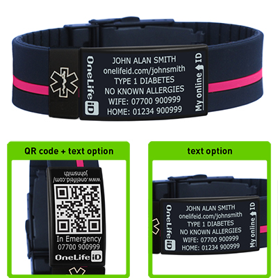 Medical Id Bracelet And Alert Wristband