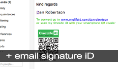 ID for your email signature